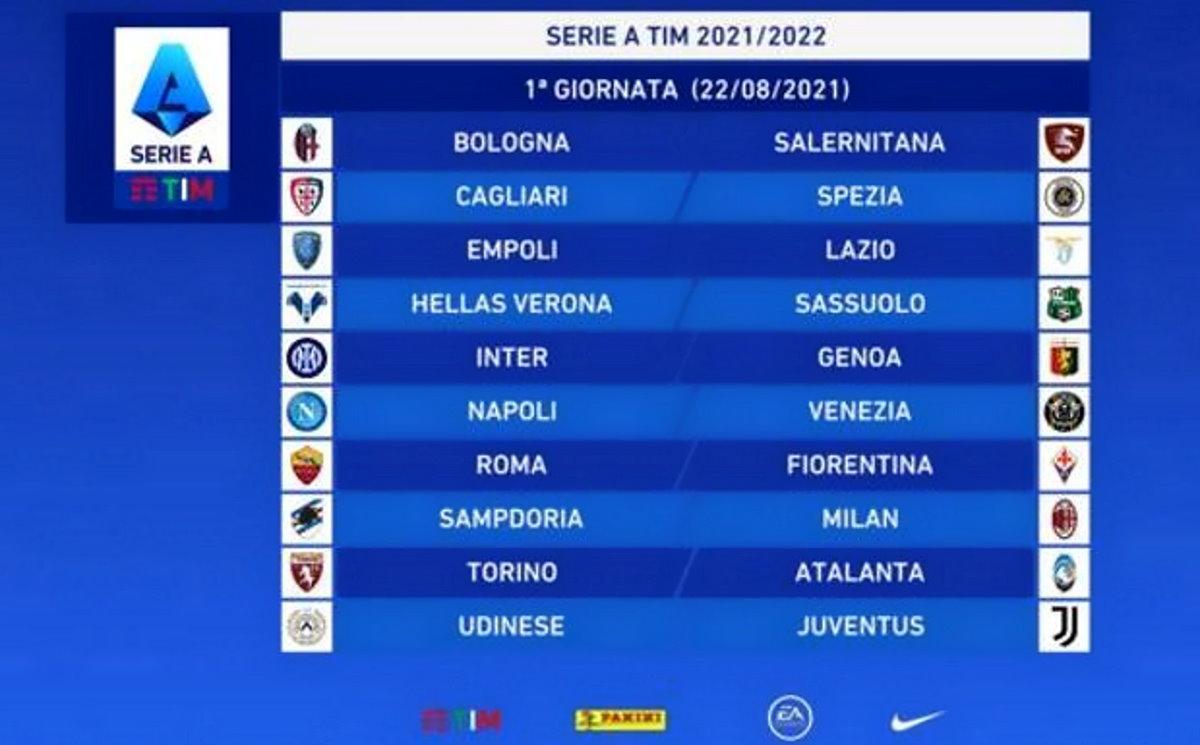 Serie A, sabato prossimo inizia il campionato 2021/2022