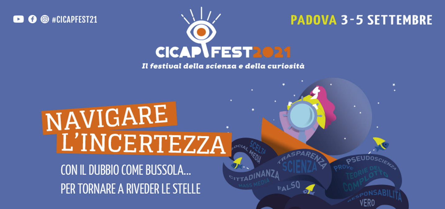 CICAP Fest 2021, a Padova dal 3 al 5 settembre