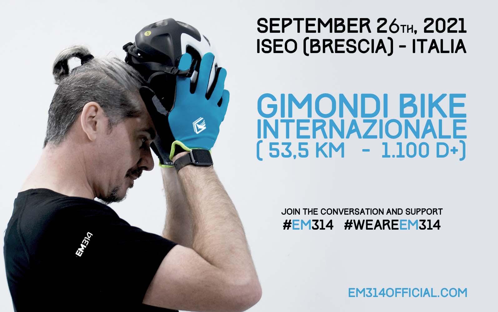 """Emmanuele Macaluso """"EM314"""" - l'atleta più green d'Italia - partecipa alla Gimondi Bike Internazionale"""