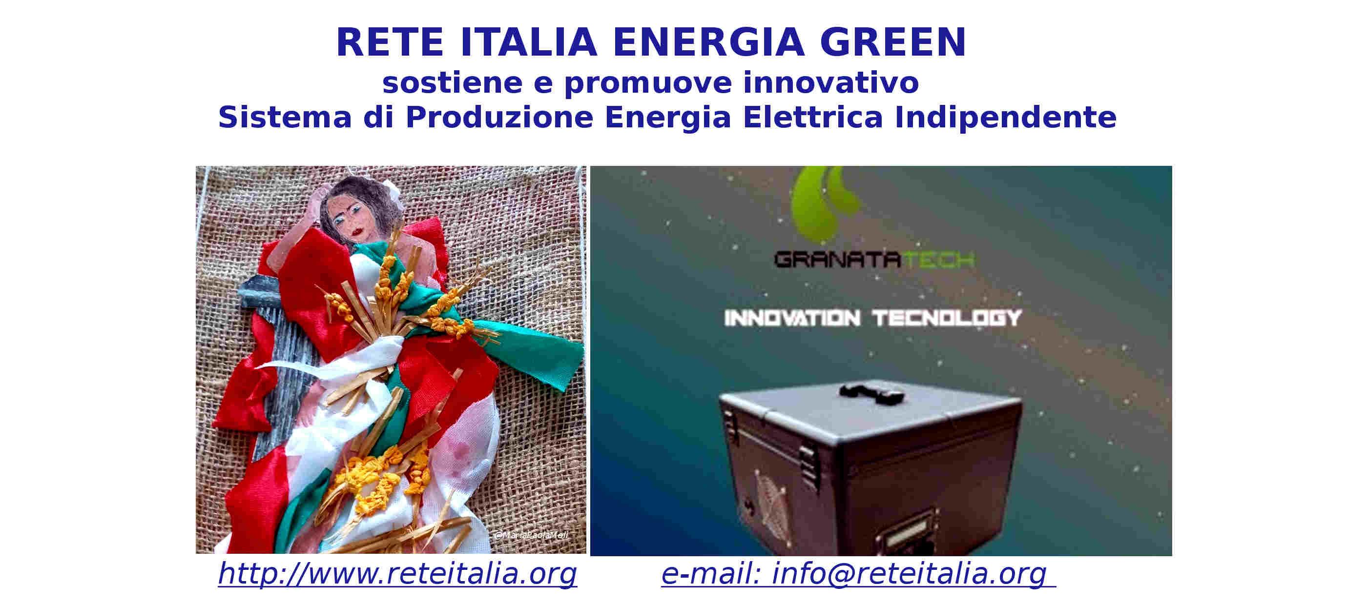 RETE ITALIA ENERGIA GREEN migliora la qualità della vita delle persone tramite corrente elettrica green, gratuita, continua, in casa come in azienda, azzerando il costo dell'energia