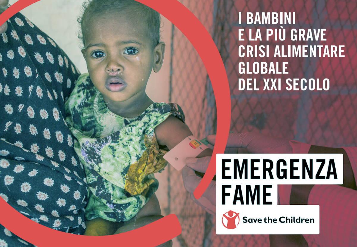 Save the Children, emergenza fame per 5,7 milioni di bambini. Uno su tre è malnutrito e ogni 15 secondi un bambino muore a causa della mancanza di cibo