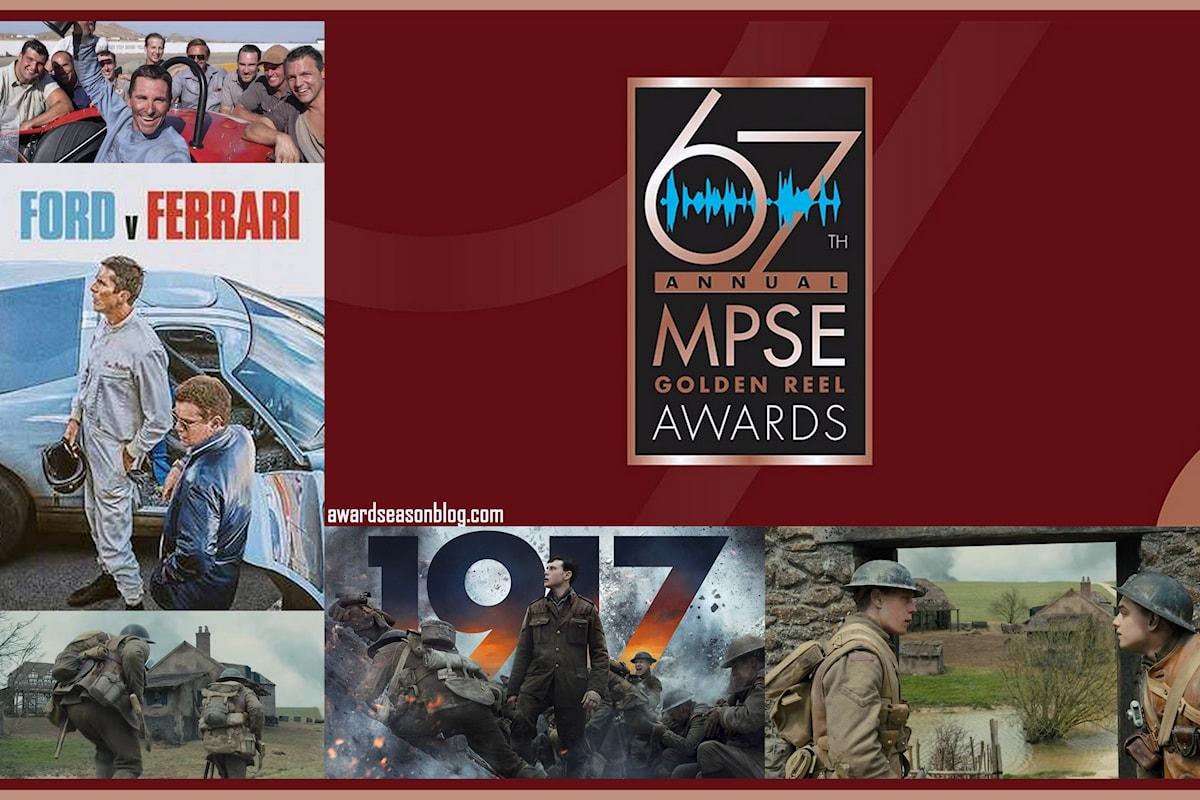 Motion Picture Sound Editors Awards 2020: 1917 e Ford v Ferrari favoriti agli Oscar per il Miglior montaggio sonoro