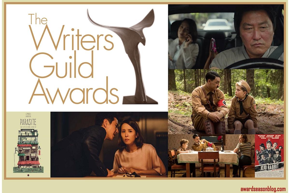 Ai Writers Guild Awards Parasite e Jojo Rabbit vincono i premi per la miglior sceneggiatura