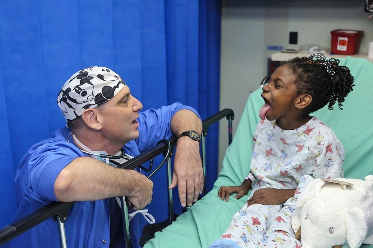 Quel dolce sorriso in ospedale