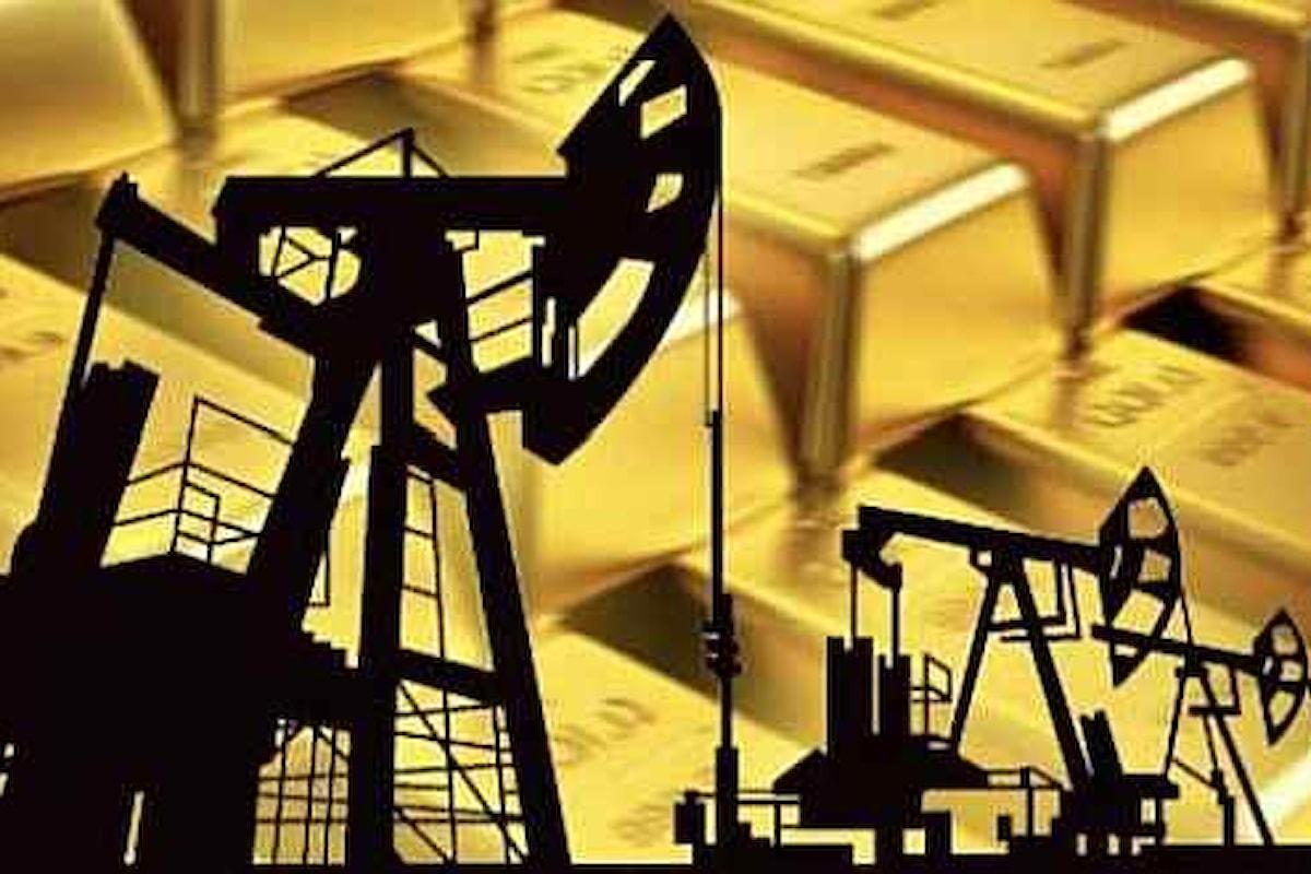 Prezzi di oro e petrolio su binari inversi: uno corre da 3 settimane, l'altro arretra
