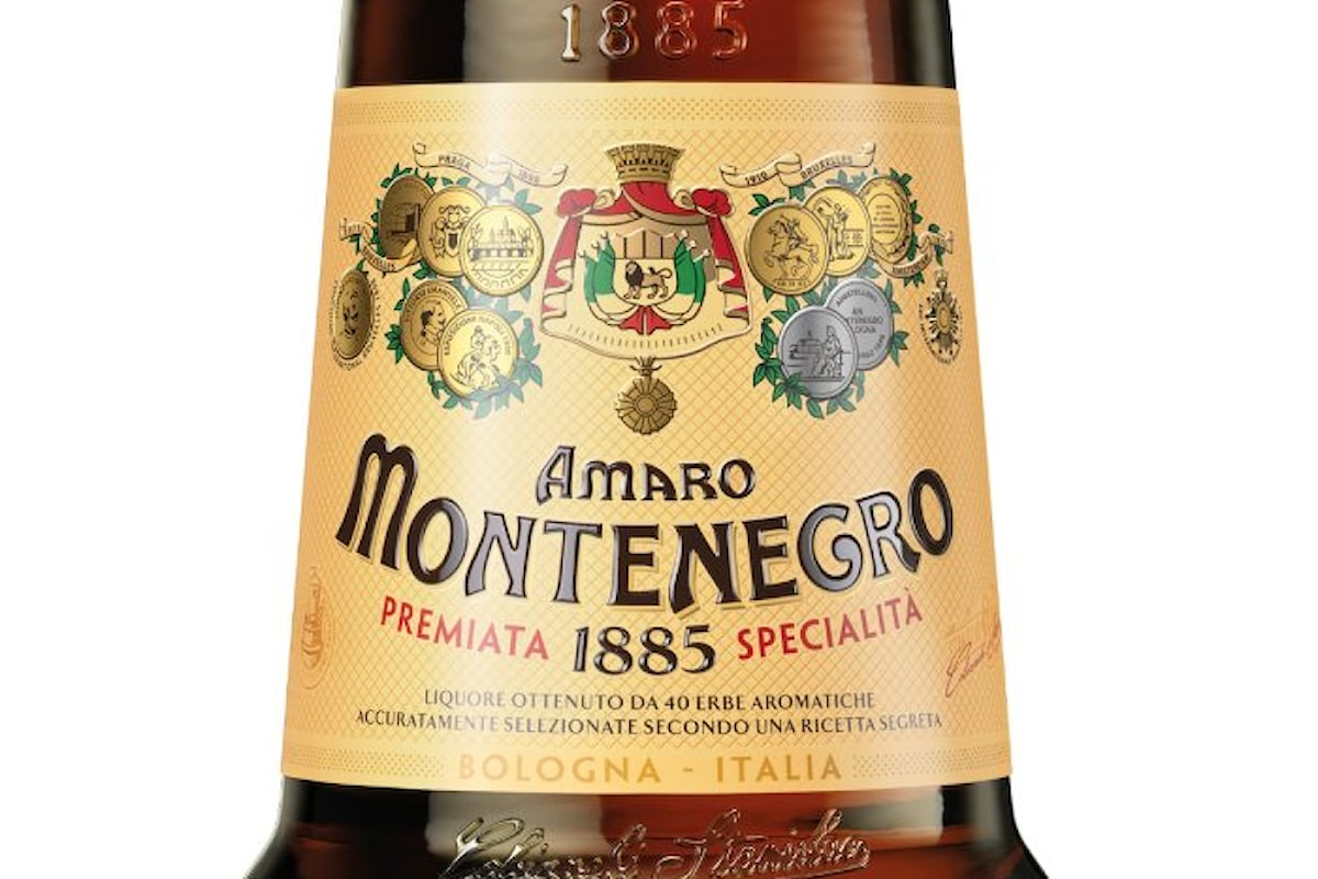 L'Amaro Montenegro si rinnova facendo dimagrire la bottiglia e cambiando etichetta