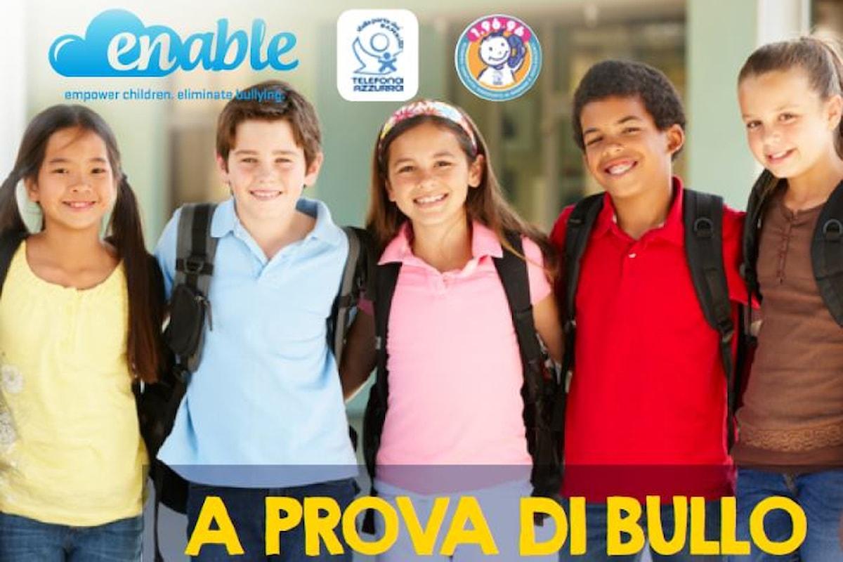 Telefono Azzurro ha reso disponibile il booklet A prova di bullo, guida per i genitori per informarsi bene e agire al meglio