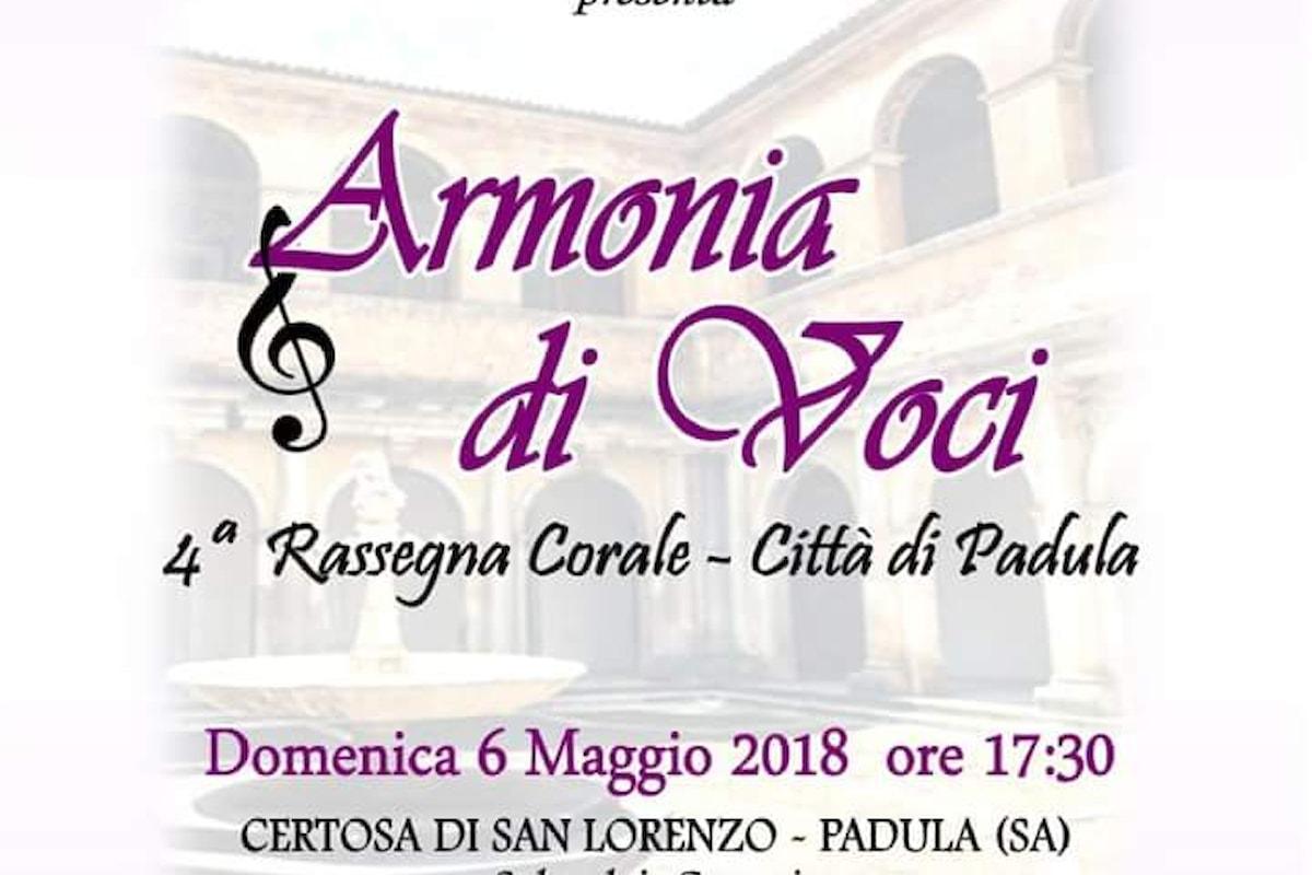 Armonia di voci, quarta rassegna corale alla Certosa di Padula