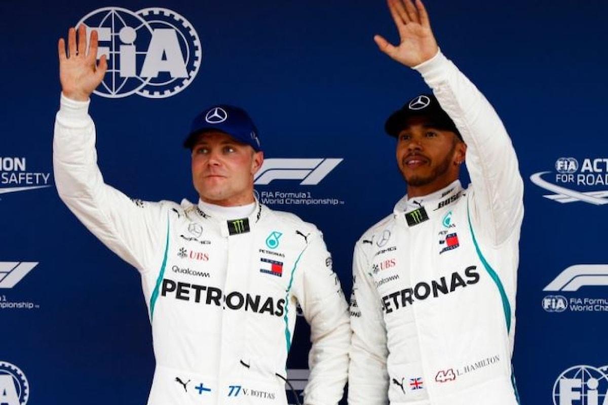 F1, in Spagna doppietta Mercedes con Hamilton primo e Bottas secondo