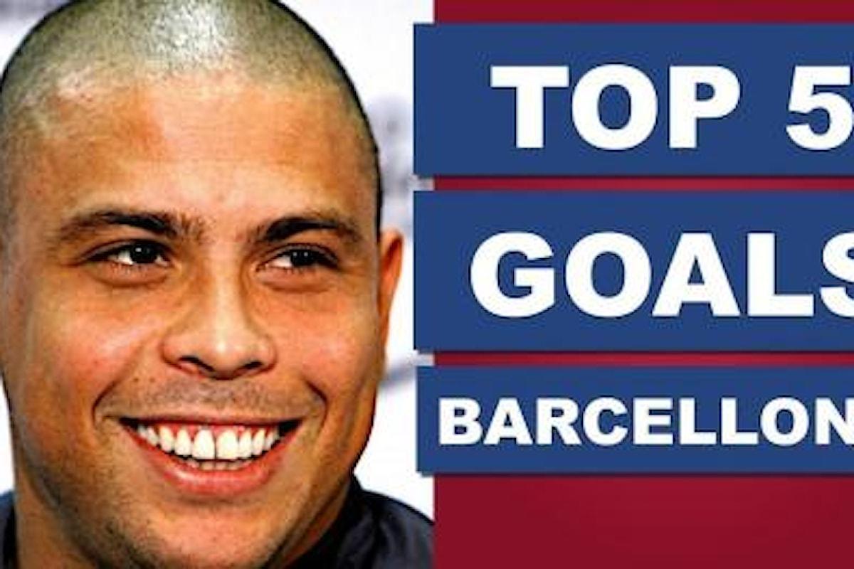 Ronaldo il fenomeno - I suoi 5 gol più belli nel Barcellona. VIDEO