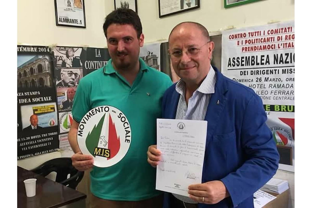 Movimento Idea Sociale, nominato il nuovo segretario federale della provincia di Caserta