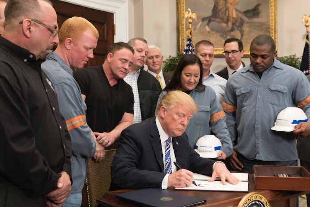 Trump aumenta i dazi sulle importazioni di acciaio e alluminio, ma alcuni Paesi saranno esclusi
