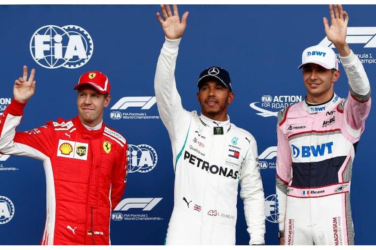 Formula 1, Hamilton ringrazia la pioggia e conquista la pole anche in Belgio
