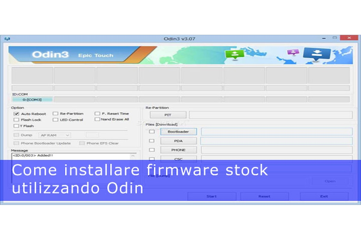 Odin, come installare un firmware
