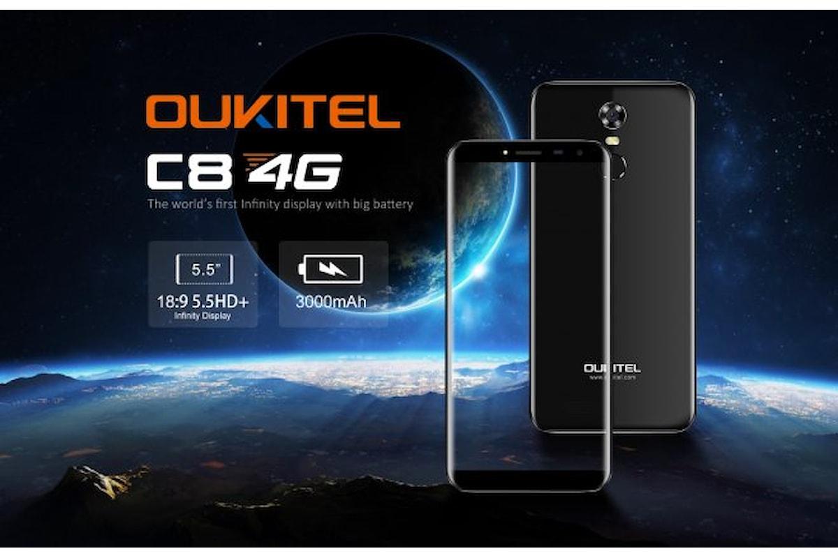 Oukitel, presentato lo smartphone Oukitel C8