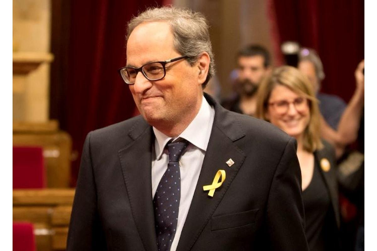 Catalogna, Qim Torra è il nuovo presidente della Generalitat