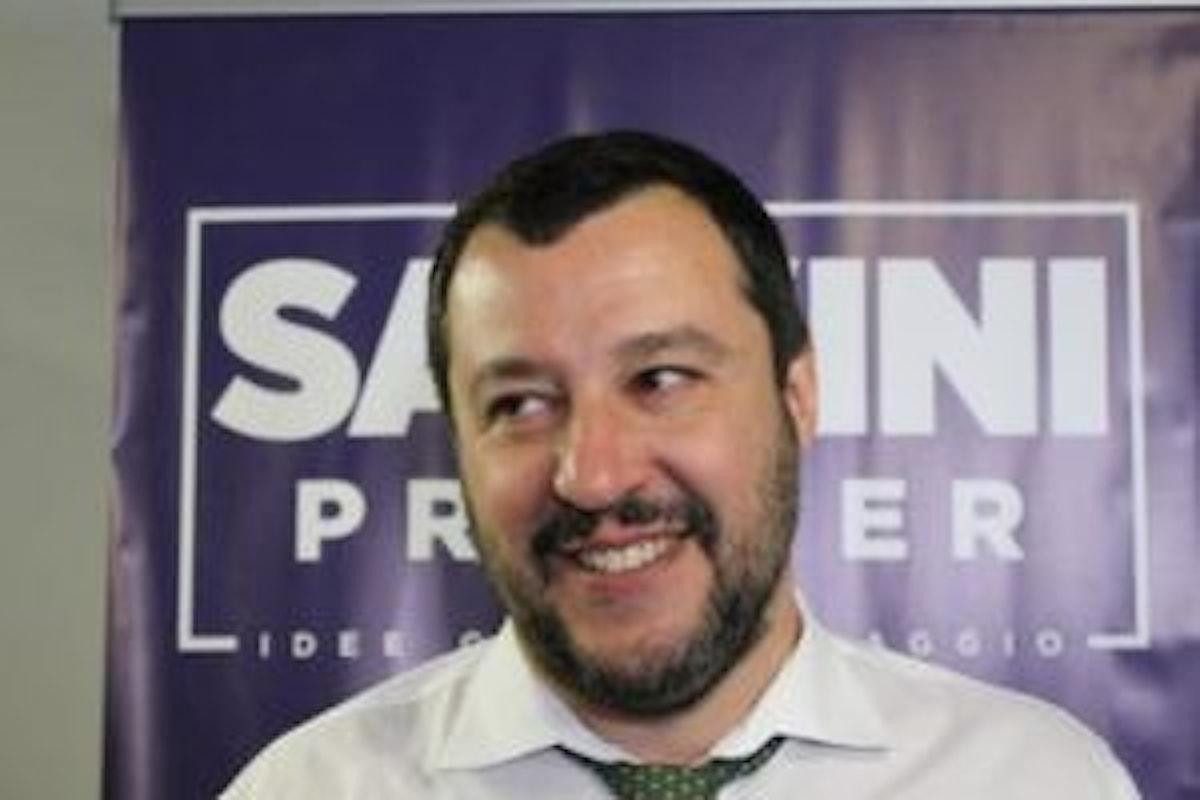 Matteo Salvini soddisfatto dopo lo stop del blocco dei conti