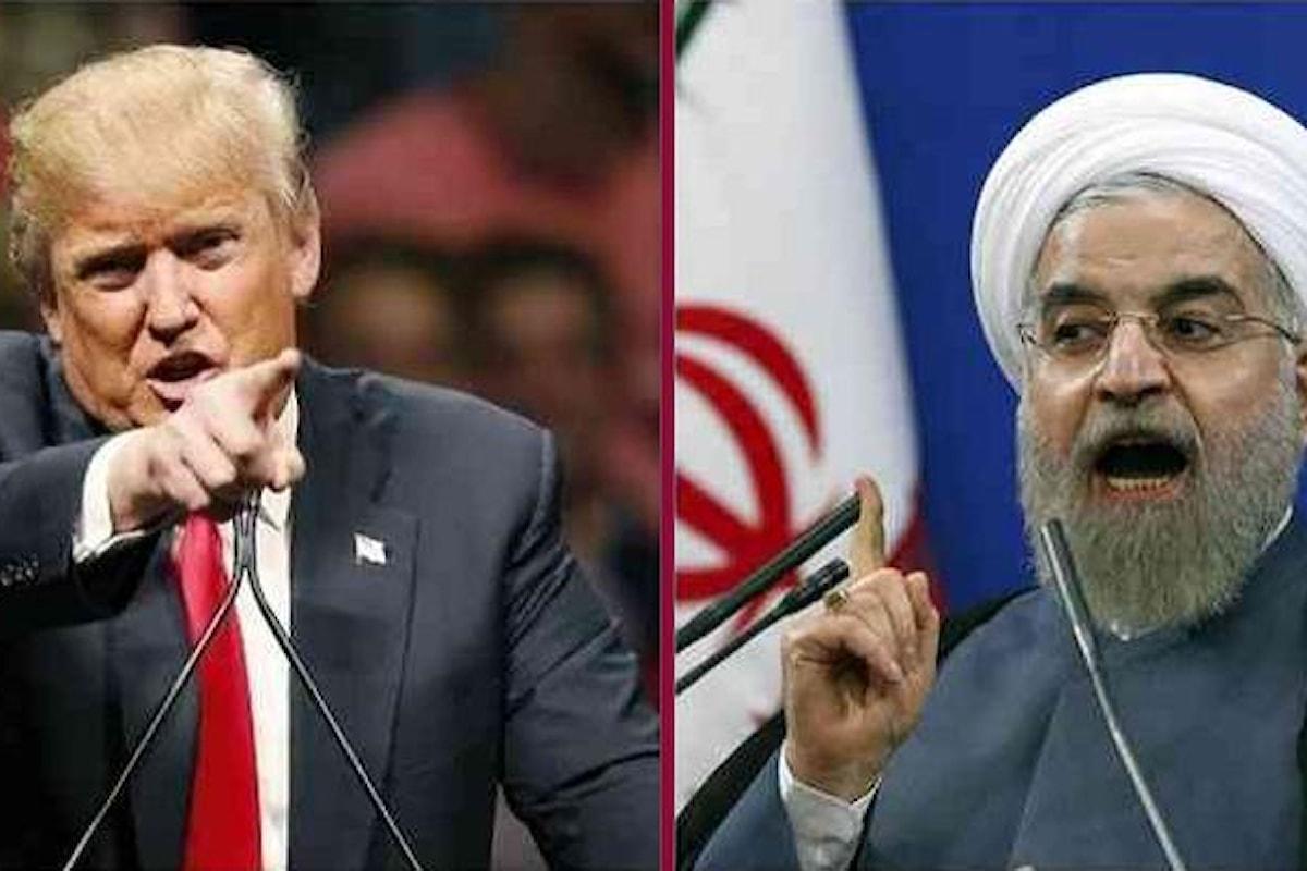 Rouhani a Trump: guerra con l'Iran madre di tutte le guerre. Trump a Rouhani: non minacciare mai più gli Stati Uniti