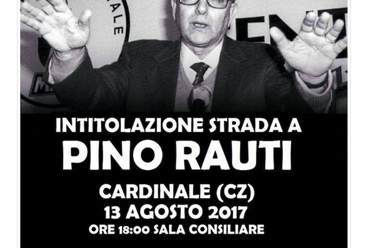 Sarà intitolata a Pino Rauti una via di Cardinale (CZ)