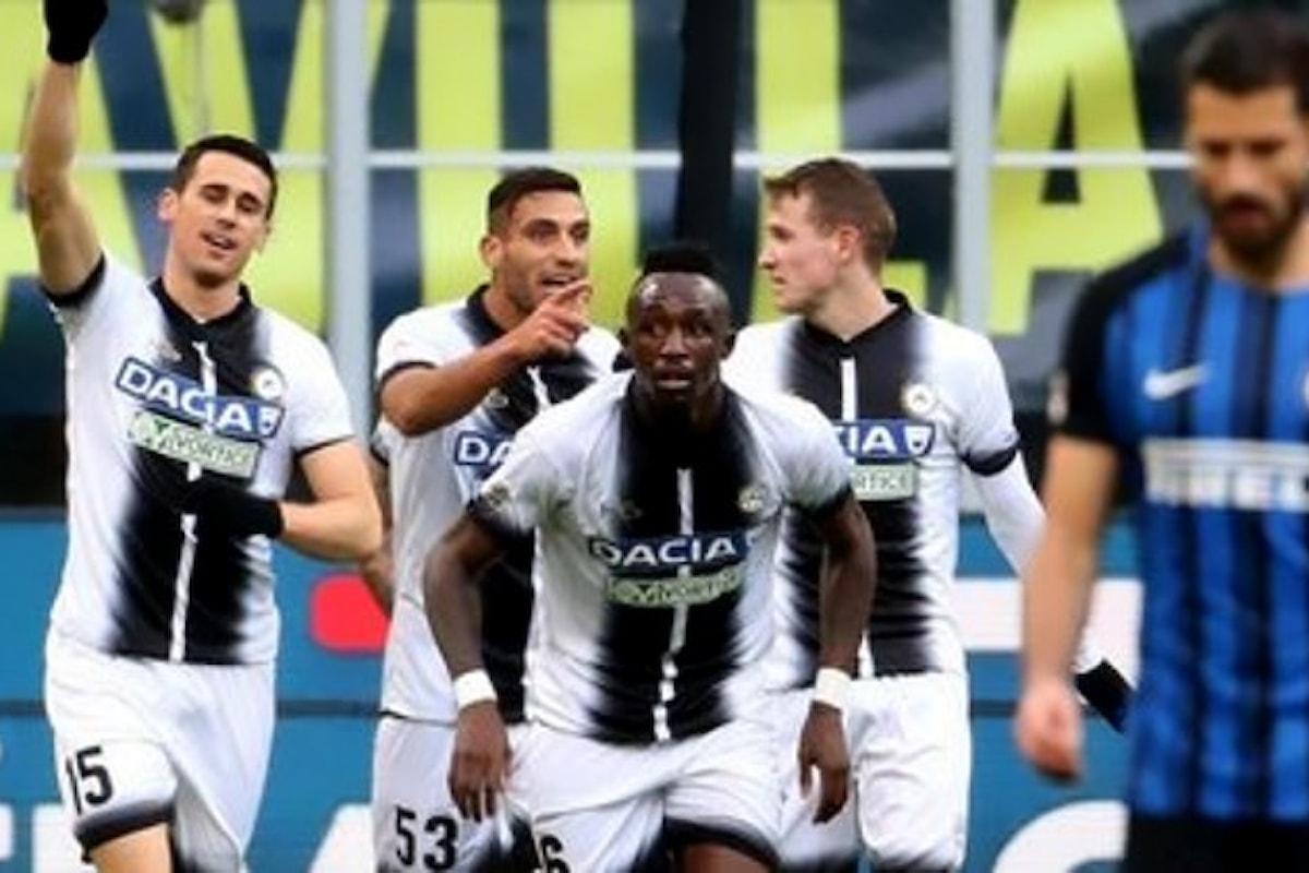 L'Inter perde 3-1 a San Siro con l'Udinese e viene sorpassata dal Napoli