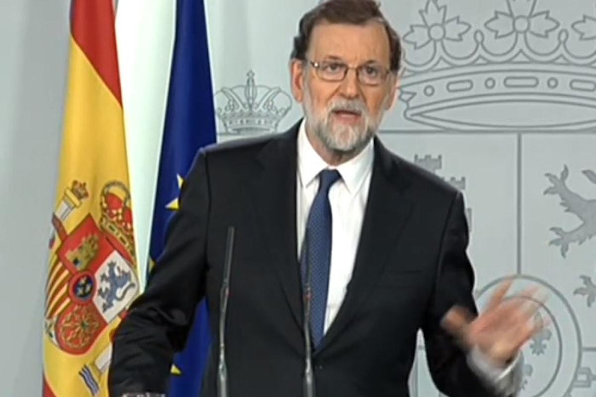 Mariano Rajoy elenca le misure per ristabilire la legalità in Catalogna