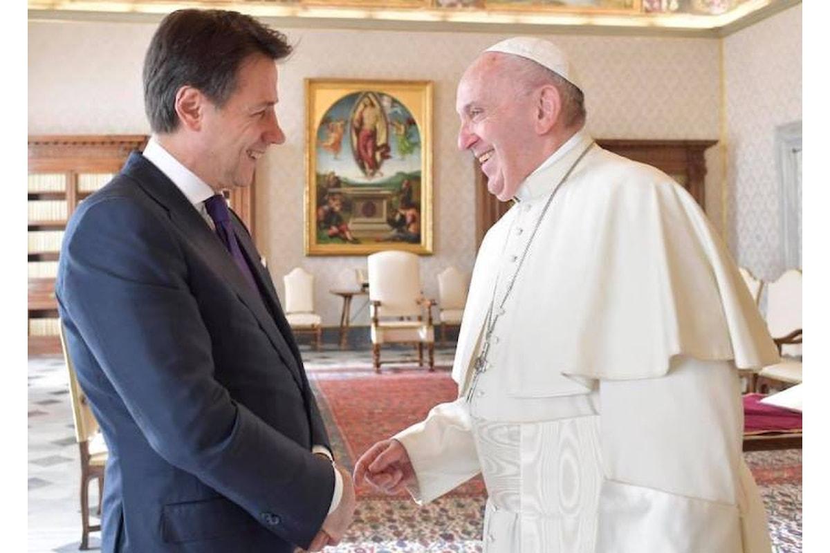 Papa Francesco riceve il premier Conte, ma non Salvini e Di Maio