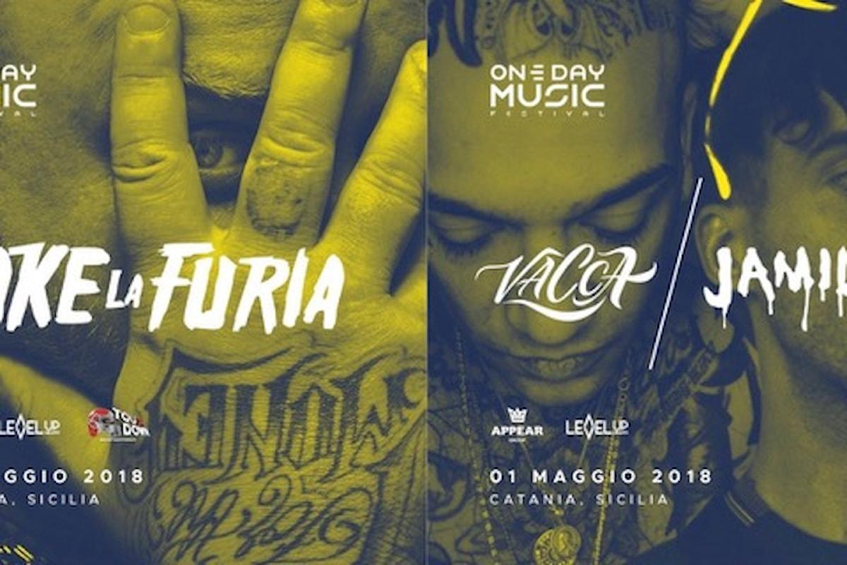 Jake La Furia, Vacca e Jamil fanno scatenare One Day Music Festival a Catania
