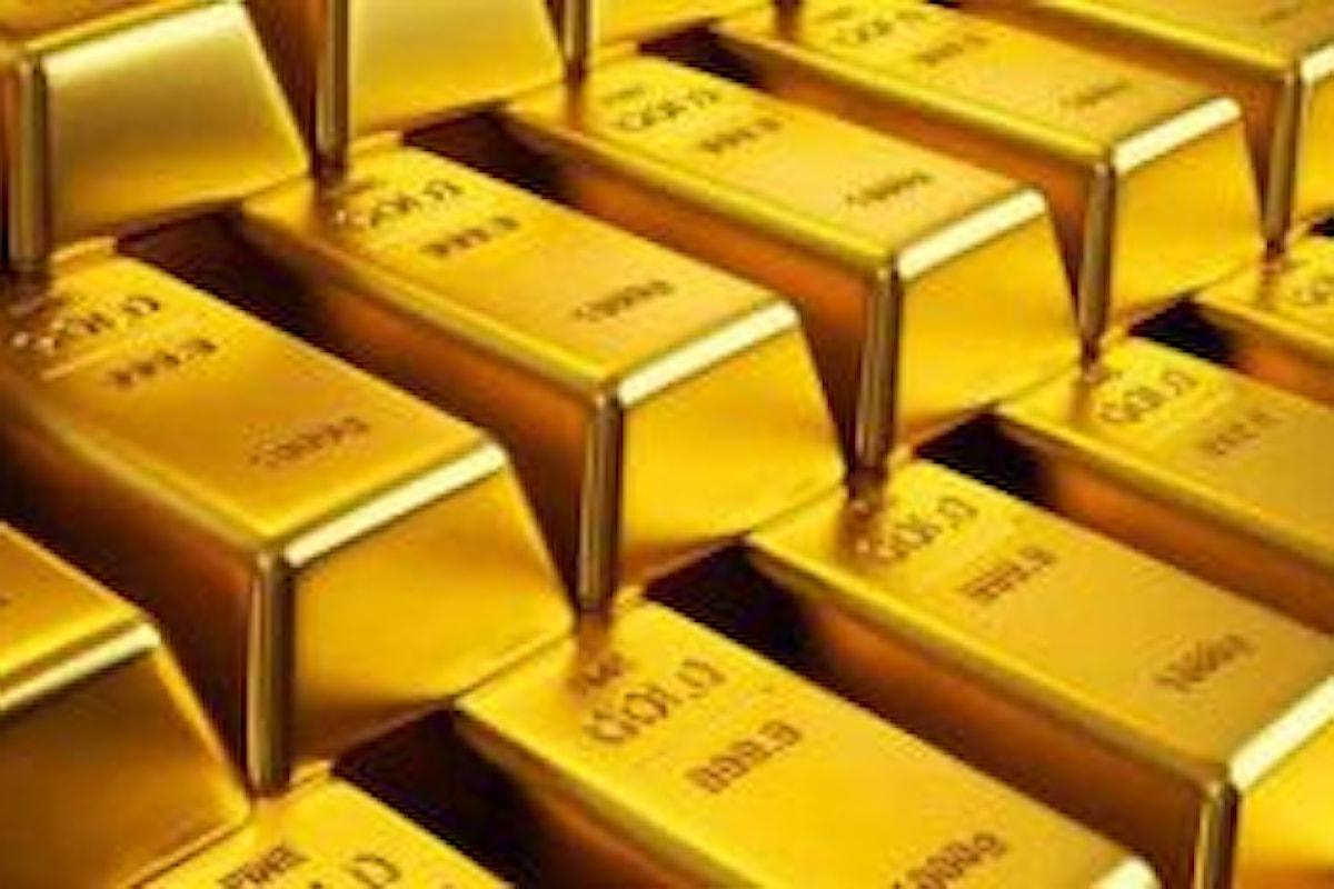 Quotazione oro, mai così debole da gennaio 2017