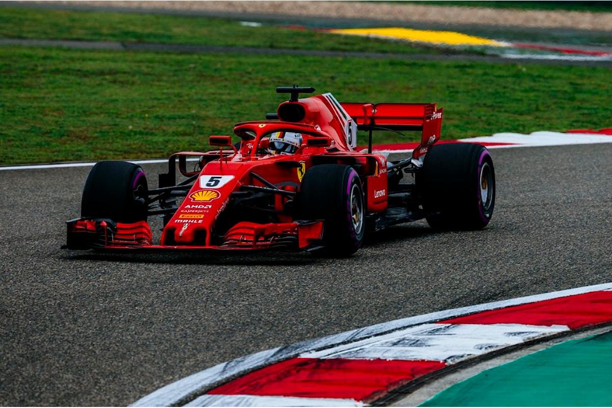 Pole record di Vettel e prima fila tutta Ferrari in Cina