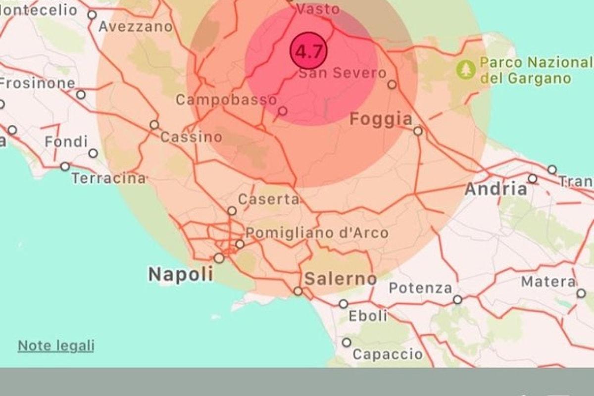 Terremoto in Molise: la terra trema fino a Salerno, tanta paura e lievi danni
