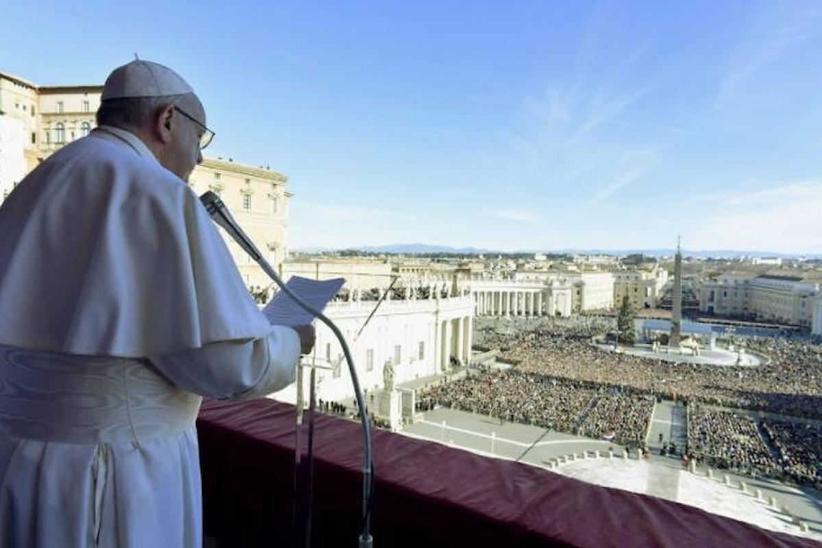 Il messaggio del Papa per la benedizione Urbi et Orbi del Natale 2018