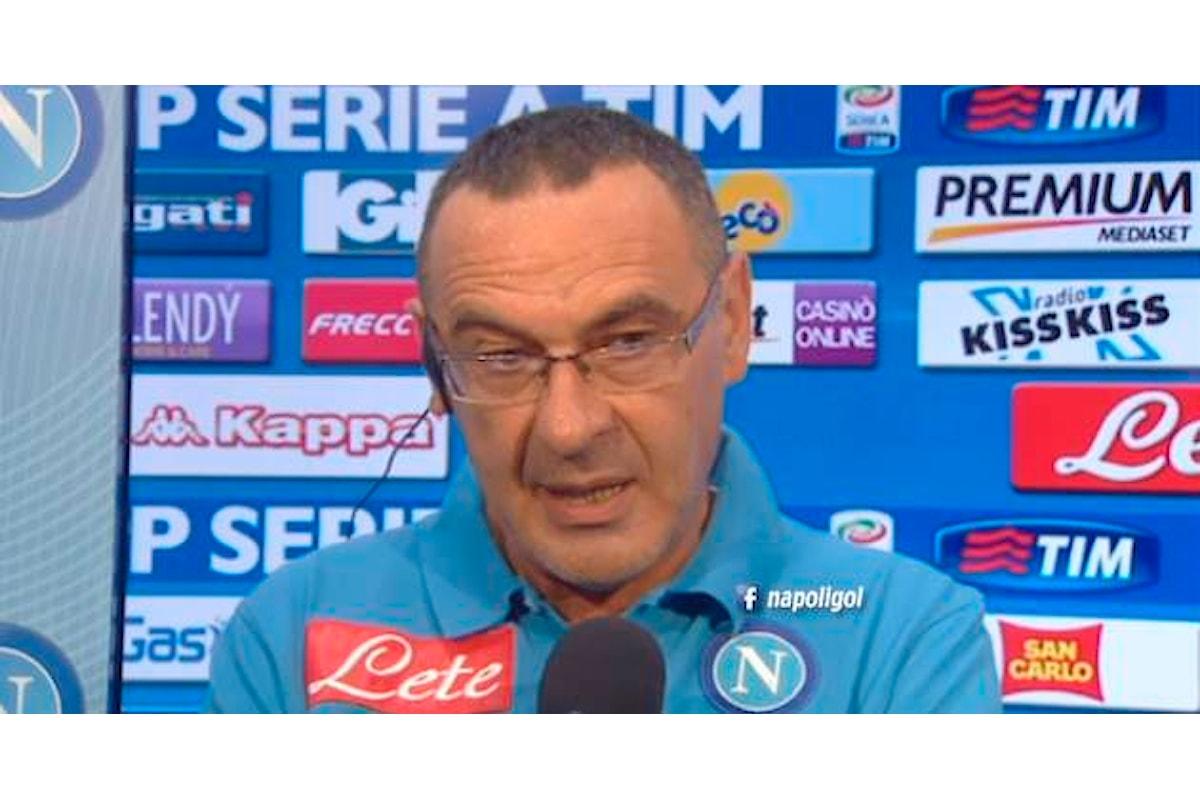 Sarri: «Ora voglio un San Paolo pieno. Buttare via la Champions sarebbe una caz...»
