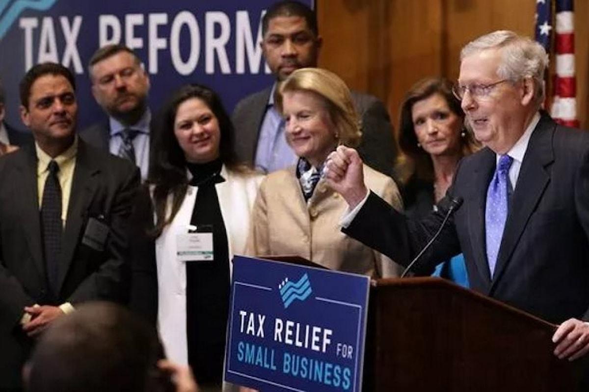 Il Senato Usa vota per il taglio delle tasse voluto da Trump. La riforma fiscale è ad un passo dall'essere approvata
