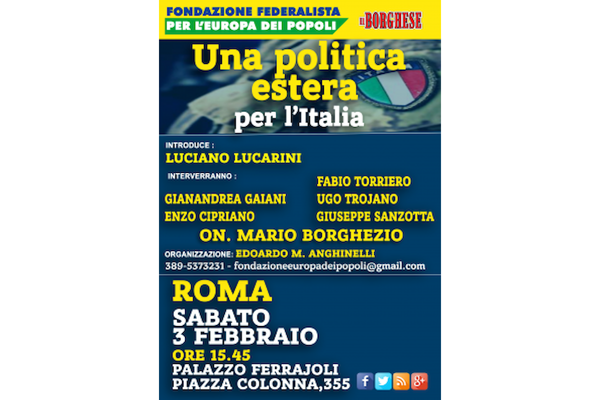 Borghezio domani alle 15,45 a Roma per presentare la Fondazione Europa dei Popoli