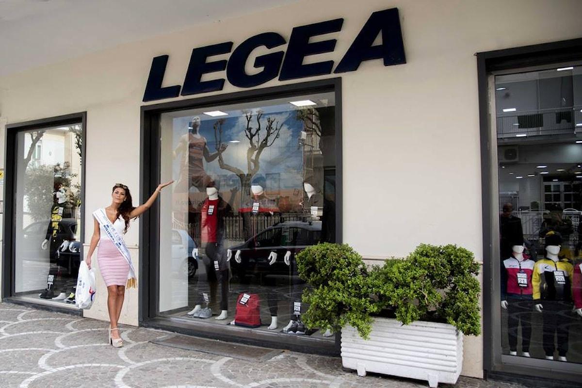 BELINDA CERINI, vincitrice della fascia Miss Europe Continental LEGEA 2017 è la testimonial assoluta del brand