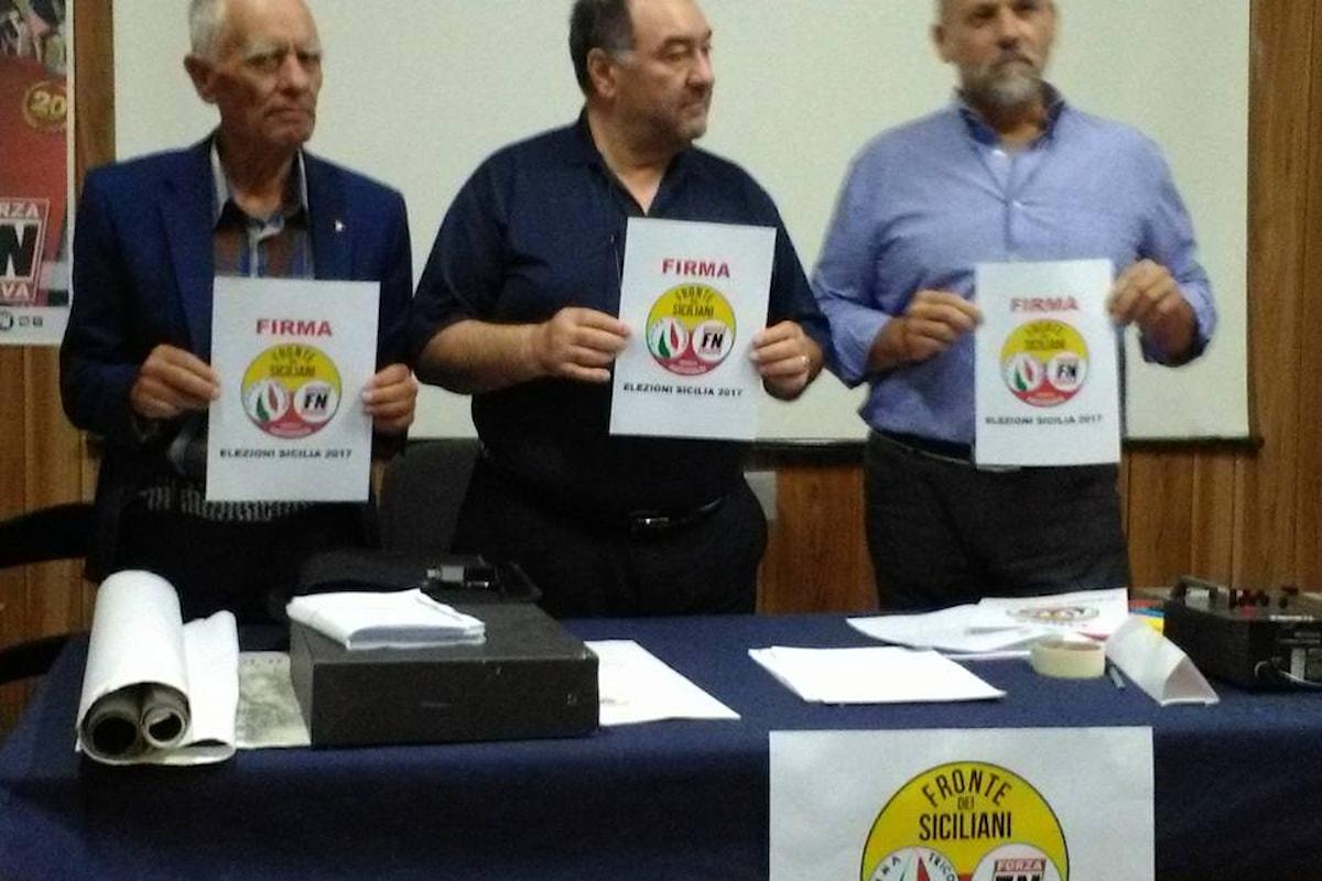 Il Fronte dei Siciliani sarà presente alle elezioni regionali