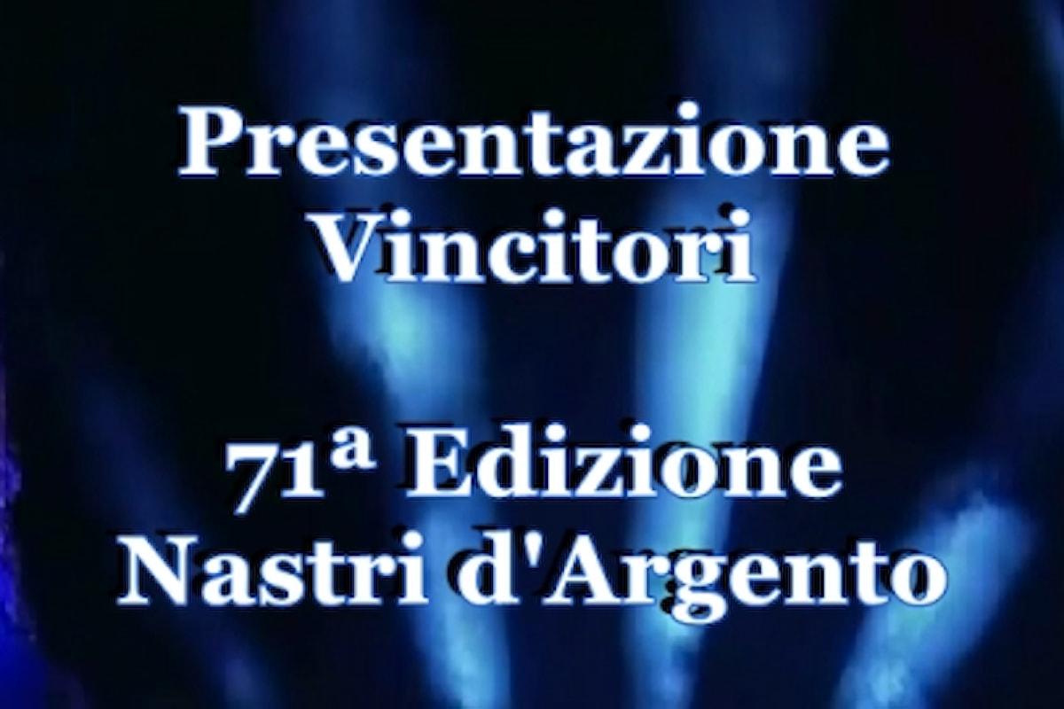 Il Sindacato dei Giornalisti Cinematografici con il Presidente Laura Delli Colli ha presentato i vincitori della 71a edizione dei Nastri d'Argento