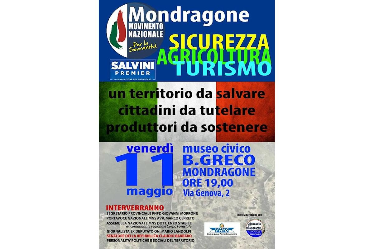 Mondragone (CE): Mns in campo per agricoltura, sicurezza e turismo
