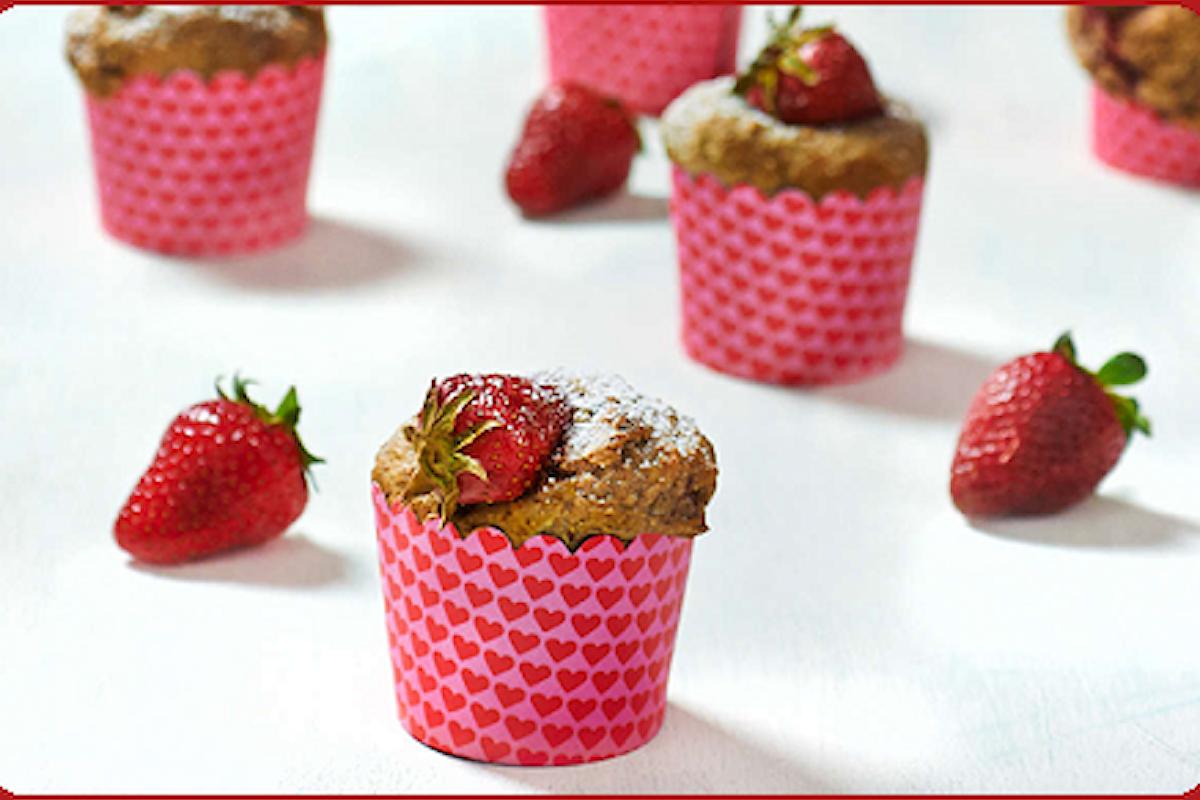 Ricetta Vegan dei Muffin Integrali alle Fragole