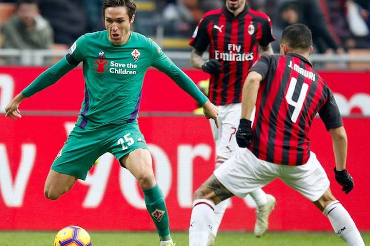 La Fiorentina vince a San Siro per 1-0, Milan in crisi