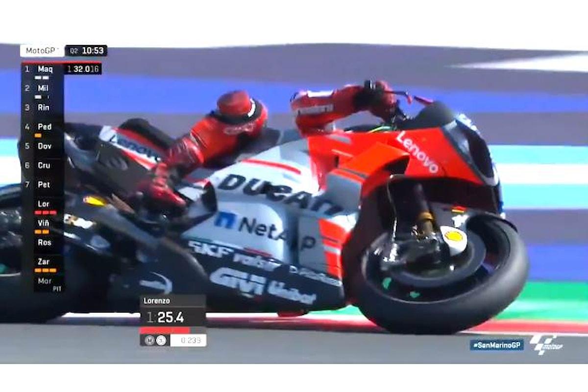 MotoGP 2018, a Misano prima fila con Lorenzo, Miller e Vinales