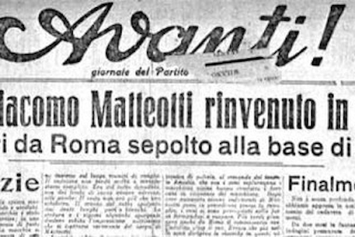 16 AGOSTO 1924 - RITROVATO CADAVERE DI MATTEOTTI