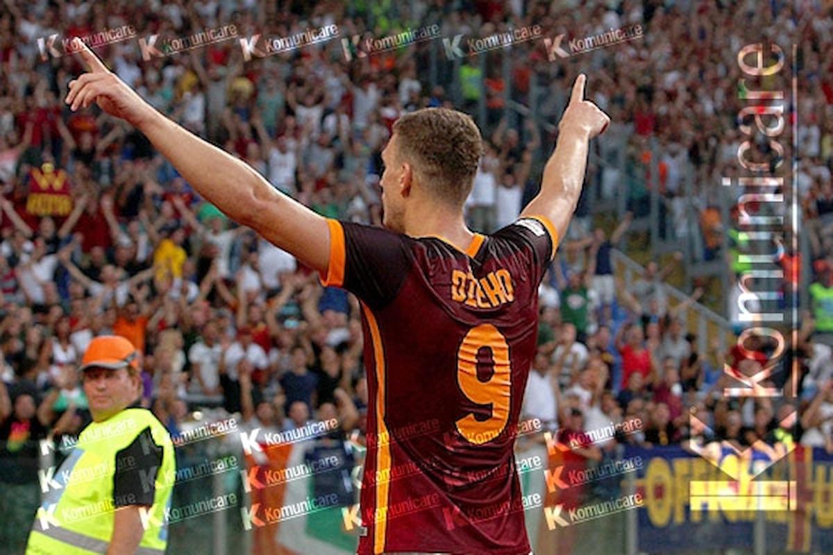 Roma, Dzeko è carico dopo il pareggio col Chelsea