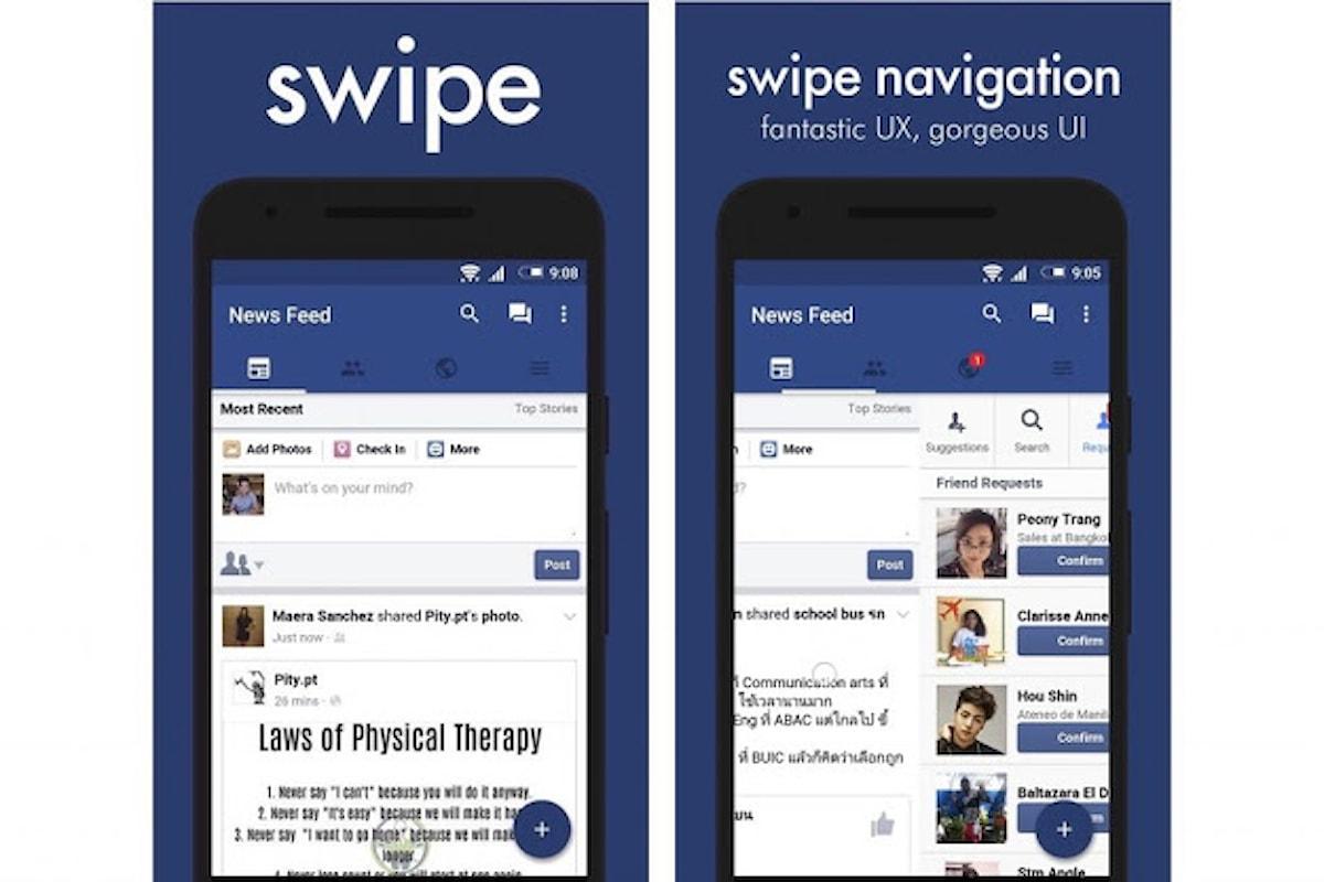 Swipe, l'app che rende Facebook ancora più LITE