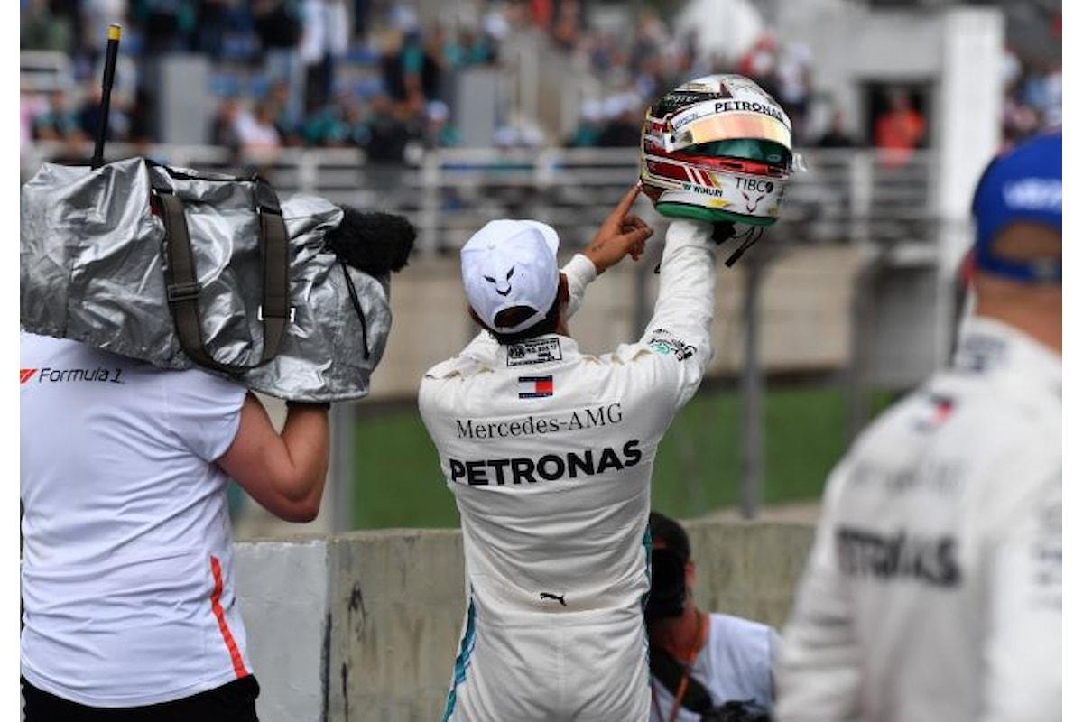 Formula 1, Hamilton conquista la 100esima pole in carriera e partirà davanti nel GP del Brasile