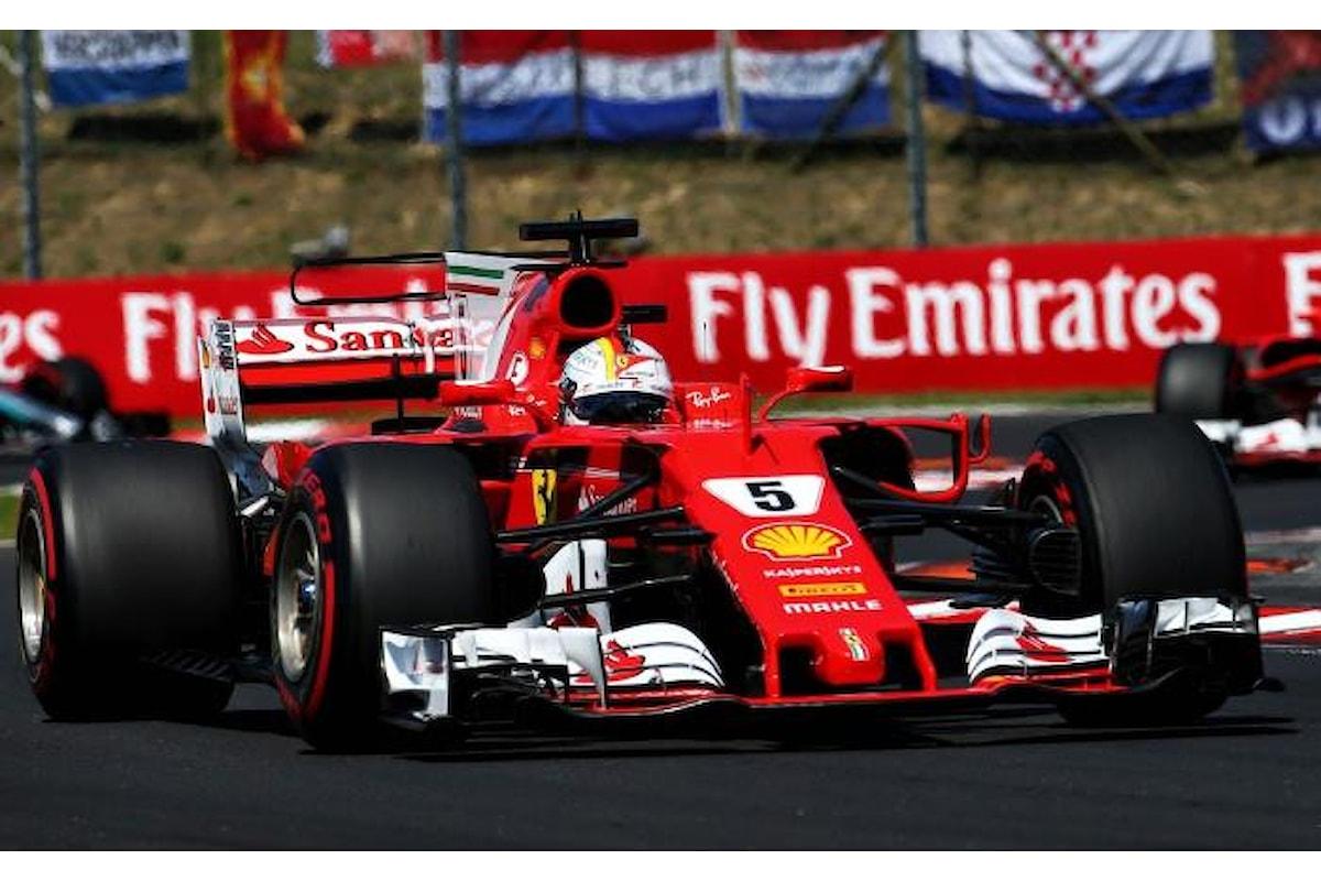 Formula 1, Vettel il più veloce nelle libere del Gran Premio d'Ungheria