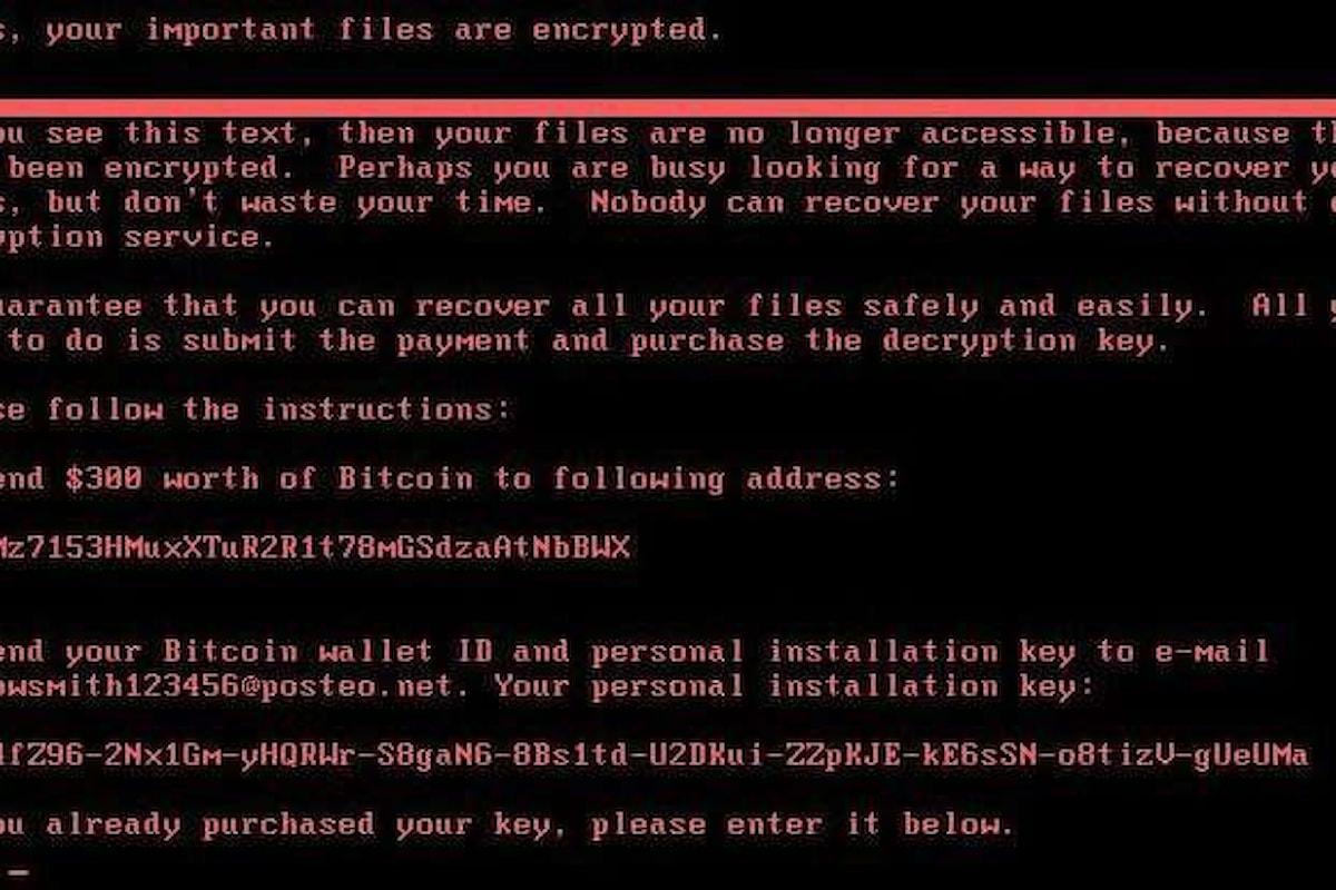 È iniziata dall'Ucraina la diffusione dell'ultimo virus in stile WannaCry che ha danneggiato l'attività di molte aziende
