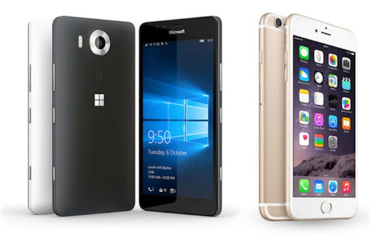 iPhone 6s e Lumia 950 a confronto: chi avrà la meglio? Scoprilo   Surface Phone Italia