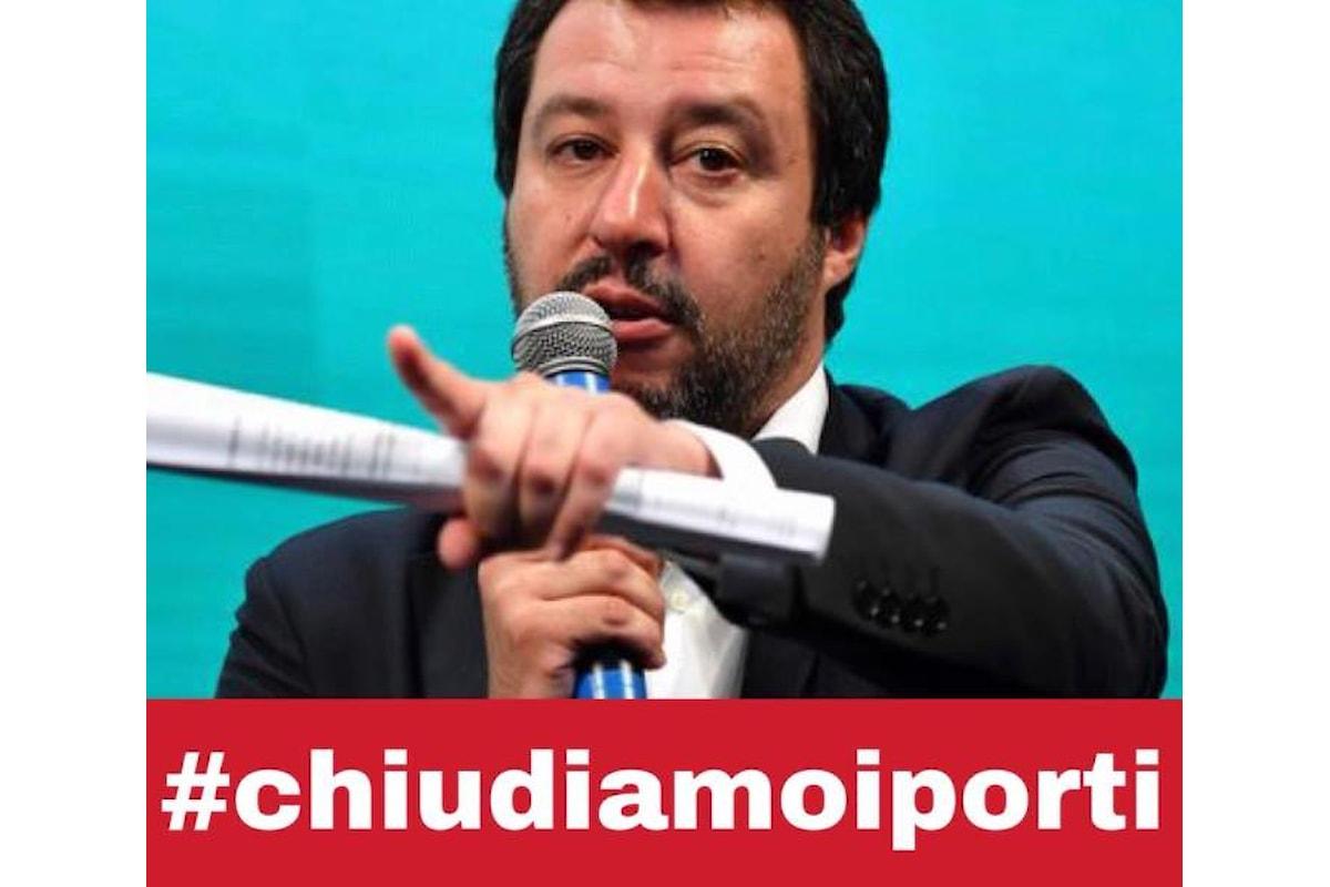Il ministro Salvini in perenne campagna elettorale continua a dire di voler chiudere i porti
