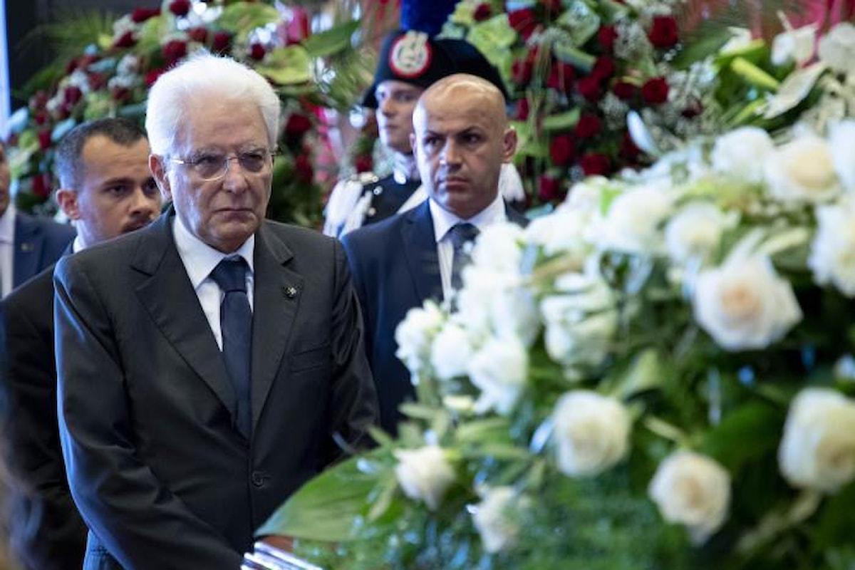 Si sono celebrati alla Fiera di Genova i funerali di Stato per le vittime del crollo del ponte Morandi